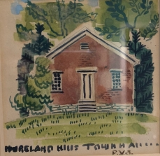 Moreland Hills Town Hall Water Color