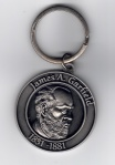 Key Chain James Garfield 1.5inch x 1.5inch