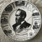 Plate Ceramic James A. Garfield